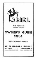 1951 Ariel single Cylinder Models owners guide.