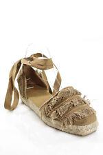 Castaner Beige Tie Up Strap Espadrille Sandals Size 7