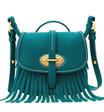 Dooney & Bourke LuLu Fiona Leather Medium Crossbody Fir Green $248