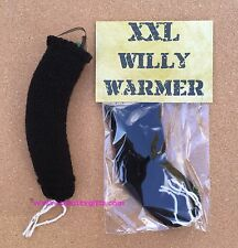 XXL Black Knitted Willy Warmer ~ Adult Rude Novelty Gift