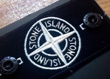 @SALE@ NEW AUTHENTIC REPLACEMENT RARE STONE ISLAND 'GLOW' BLACK/WHITE BADGE SET