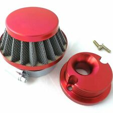 Air Filter + Adapter Billet Aluminum for 2 stroke 47 49 Pocket Bike Mini Quad