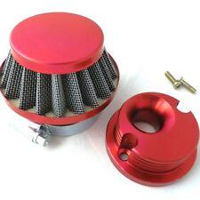 Air Filter + Adapter Billet Aluminum for 2 stroke 47 49 Pocket Bike Mini Quad