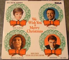 "45 RPM By Julie Andrews, etal, ""We Wish You A Merry Christmas"" on Rca Victor"