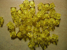 LEGO 1 x 1 TRANS YELLOW BRICK/PLATE x 50  PART 3024