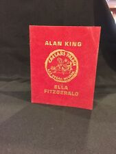 Caesars Palace Alan King/Ella Fitgerald Table Card