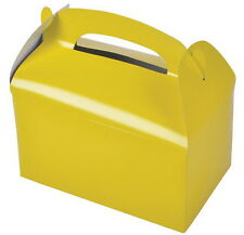 48 YELLOW PARTY TREAT BOXES FAVORS GOODY BAGS BAZAAR PRIZE GIFT BASKET CARNIVAL