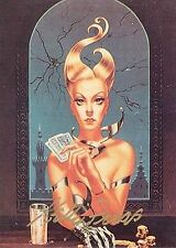 KELLY FREAS TRADING CARD #B14 POKER FACE SIGNED