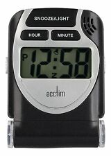 Acctim 13253 Smartlite Travel LCD Alarm Clock in Black (our ref 4RobP)