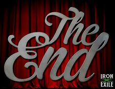 The End Movie Metal Wall Art Decor Vintage Theater Room Sign Vacation Home Cabin