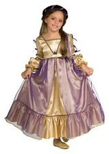 Girls PRINCESS JULIET Renaissance Costume Dress + Headpiece - Childs Medium 8 10