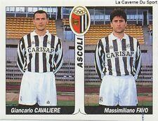 N°363 CAVALIERE - FAVO # ITALIA ASCOLI SSC.NAPOLI STICKER TUTTO CALCIO 1995 SL