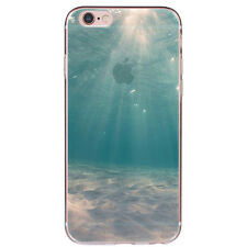 New Ocean Patterned Ultra Thin Soft TPU Silicone Back Case Cover For iPhone 6 6s
