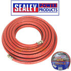 """Sealey 10m/32ft Compressor Air Line Rubber Hose 8mm Ø With 1/4"""" BSP Unions AHC10"""
