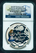 2015 150th Ann. of Alice's Adventures in Wonderland 1oz Silver $1 coin NGC PF69