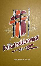 Kunstdarm, Kaliber 45/21, für Delikates Leberwurst, mit Druck, 25 Stück