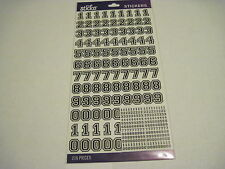 Scrapbooking Stickers Sticko Numbers Varsity Black Repeats 2 Sheets New