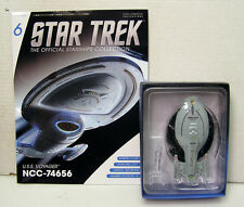 "#6 Star Trek  5"" Die-Cast USS Voyager NCC-74656 from UK/Eaglemoss w Mag-FREE S&H"