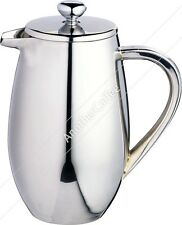 Double Wall Stainless Steel Jug Cafetiere 3 Cup - Polished