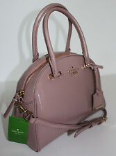 NWT KATE SPADE CEDAR STREET PATENT SMALL PEARL CONVERTIBLE BAG PURSE~ROSEWATER