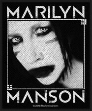 OFFICIAL LICENSED - MARILYN MANSON - VILLAIN SEW ON PATCH METAL GOTH