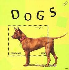 Thai Ridgeback Dog Stamp Sheet (2013 Tanzania)