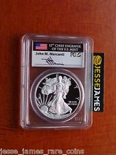 2015 W PROOF SILVER EAGLE PCGS PR70 DCAM MERCANTI FIRST DAY ISSUE WASHINGTON DC