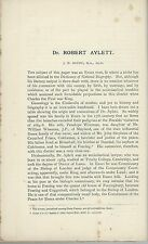 Dr Robert Aylett   by J Round  extracted