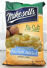 Mikesell's All Natural No Salt Added Potato Chips 10 oz Mike Sell's Sells