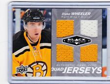 10-11 2010-11 BLACK DIAMOND BLAKE WHEELER QUAD JERSEY QJ-BW BOSTON BRUINS