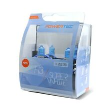 POWERTEC SUPER WHITE +100% DUO H3 HEADLIGHT CAR BULB SET 12V 55W