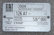 CLASSIC FIAT 126 CHASSIS PLATE- HIGHEST QUALITY