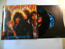 "BON JOVI""HARDEST PART IS THE NIGHT-disco 45 giri DOUBLE VERTIGO Usa 1985""GATEFOL"