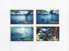 WHALE AND DOLPHIN SEA CREATURE ANIMALS ANGOLA  MNH STAMP SHEETLET