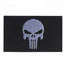 Black Punisher Embroidery PATCH USA TACTICAL ARMY MILITARY BADGE PATCHES