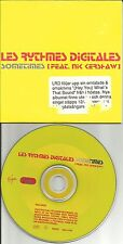 LES RYTHMES DIGITALES w/ NIK KERSHAW Sometimes EDIT EUROPE PROMO CD USA Seller