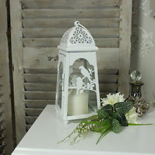Cream metal bird candle tea light lantern shabby french chic vintage wedding