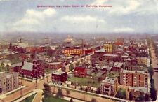 SPRINGFIELD, IL, FROM DOME OF CAPITOL BUILDING 1910