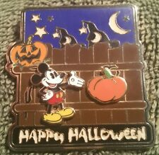 DISNEY 2003 HAPPY HALLOWEEN GLOW IN THE DARK BUILD A PIN MICKEY PUMPKIN ADD ONS