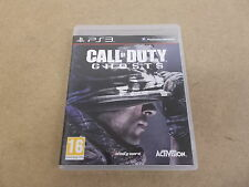PS3 Playstation 3 Pal Game CALL OF DUTY GHOSTS with Box Instructions