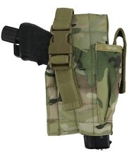 KOMBAT BTP / MTP STYLE CAMO MOLLE GUN HOLSTER WITH MAG POUCH ARMY AIRSOFT FORCES