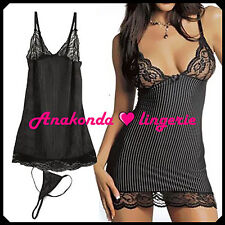 Pamela Sexy SLEEPWEAR Lingerie Sex Toy Woman Lace BLACK Dress HOT Club Babydoll