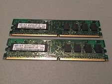 Samsung 2GB Kit (2x1GB) DDR2 667mhz PC2-5300U NON-ECC 240-Pin 2Rx8 RAM