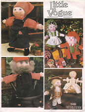 """1970's Vintage VOGUE Dolls and Clothes Pattern 1546 16"""" tall"""