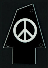 GUITAR TRUSS ROD COVER - Custom Engraved - Fits IBANEZ - PEACE - Black