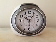 Grey Telesonic Quartz Sweep Second Alarm Clock W/ Light