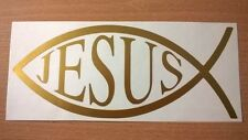 "christian fish jesus symbol car sticker  6""x2.5"" vinyl graphics decals wall art"