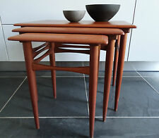60er TEAK Set TAVOLI TAVOLINO moltiplica Tables Danish design Wegner era
