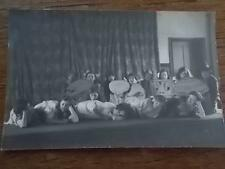 Real B/W Photo Postcard of Children Girls Boys Acting in School Play c1930