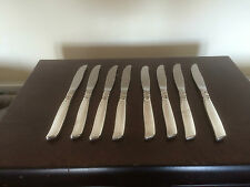 "LOVELY SET OF 8 UNBOXED SILVER PLATED ONEIDA (COMMUNITY) DINNER KNIVES 8.5"" LONG"